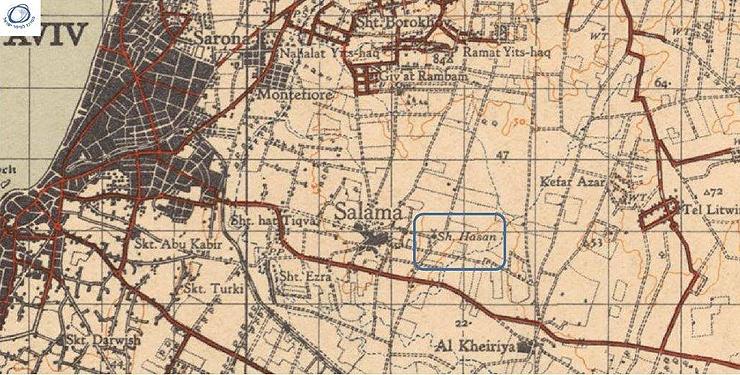 סלמה ותשכונת התקוה בשנים הראשונות לפני הקמת המדינה, צילום: המרכז למיפוי ישראל