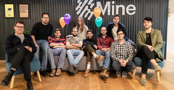 Mine's team. Photo: Mine