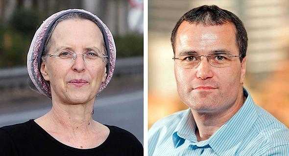 """מימין: יו""""ר איגוד האינטרנט, ארז צור בעבר דירקטור באינפיבונד. ופרופ' שרית קראוס"""