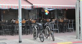 בית קפה סגור, צילום: יריב כץ