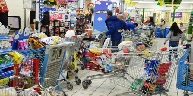 קניות בתחילת מגפת הקורונה, צילום: הרצל יוסף