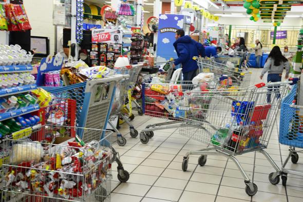 קניות בתחילת מגפת הקורונה