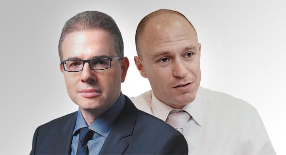 """משמאל: דני נוה יו""""ר כלל ביטוח ויורם נוה, מנכ""""ל החברה"""