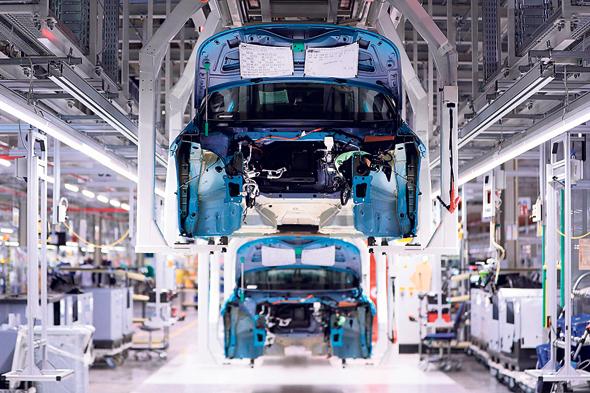 מפעל לייצור פולקסווגן בגרמניה, צילום: בלומברג