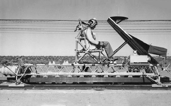 המזחלת הרקטית, צילום: USAF