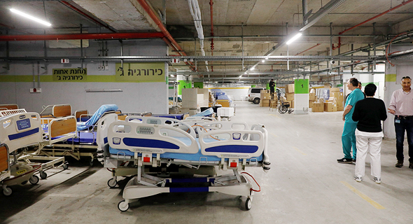 New health units for coronavirus patients at Sheba Medical Center in Israel. Photo: Shaul Golan