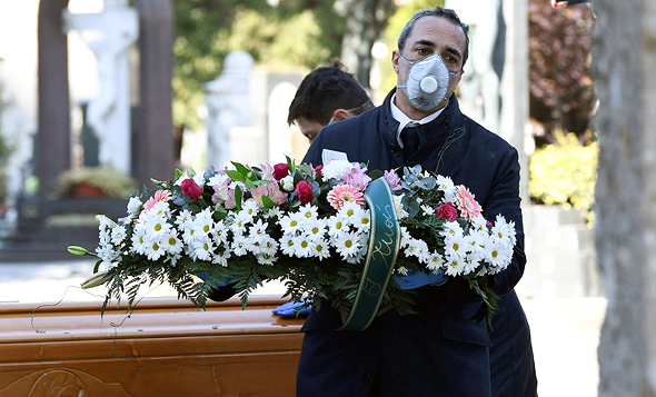 הלוויה באיטליה, צילום: איי אף פי