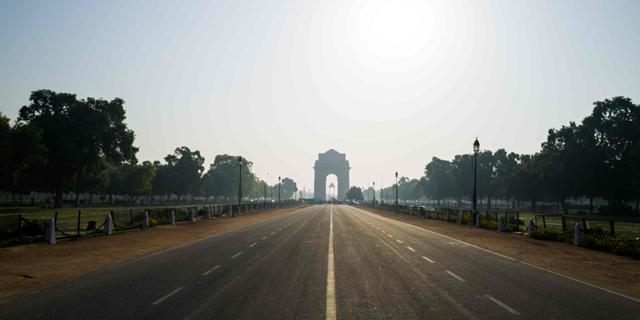 כבישים ריקים בהודו, צילום: איי אף פי