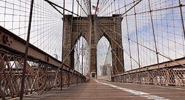 פוטו קורונה מקומות ריקים גשר ברוקלין ניו יורק, צילום: גטי אימג'ס