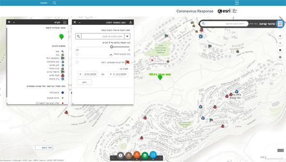 מפת חשיפת המבודדים ומתקנים חיוניים, צילום: סיסטמטיס