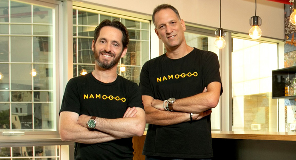Namogoo co-founders Ohad Greenshpan (left) and Chemi Katz. Photo: Efrat Sa'ar