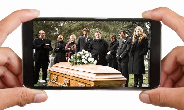 הלוויה וירטואלית קורונה , צילום: גטי