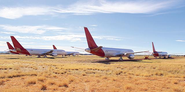 המגפה הקפיצה את הביקוש לחניונים מדבריים למטוסים