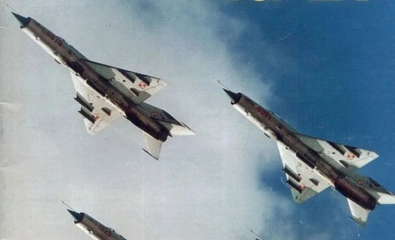 מטוסי מיג 21 בצבעי חיל האוויר הפולני