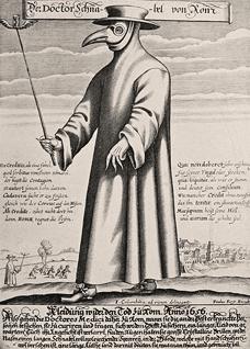 איור מסכות הגנה במאה ה-17, איור: ויקפדיה