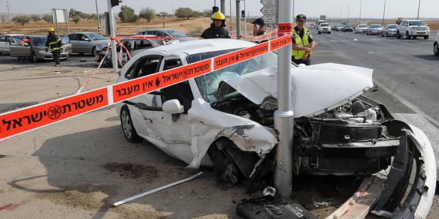 """הלמ""""ס: ירידה של 20% במספר ההרוגים בכבישים ברבעון הראשון"""