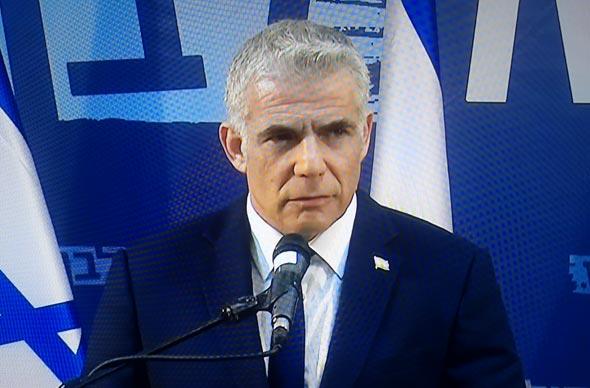 יאיר לפיד הצהרה פירוק כחול לבן, צילום: צילום מסך