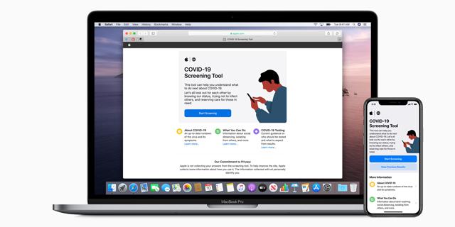 אפל משיקה אתר ואפליקציה ייעודית למאבק בקורונה