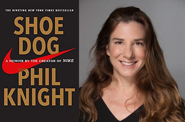 Left: Shoe Dog: A Memoir by the Creator of Nike. Right: Tami Mazel Shachar. Photo: IncrediBuild
