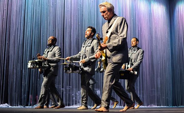 דיוויד ביירן הסולן האגדי של להקת טוקינג הדס , צילום: איי אף פי
