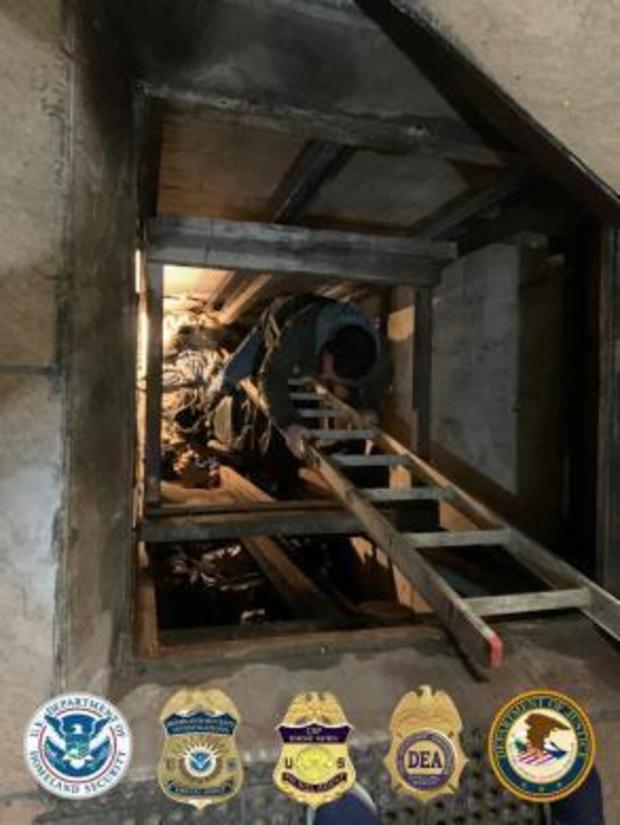 המנהרה שבה נתפסו הסמים, צילום: U.S. IMMIGRATION AND CUSTOMS ENFORCEMENT