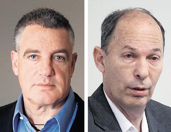 מימין: מנהל קרן אלומה אורי יוגב ובעל השליטה ב־ OPC עידן עופר, צילומים: אוהד צויגנברג , בלומברג