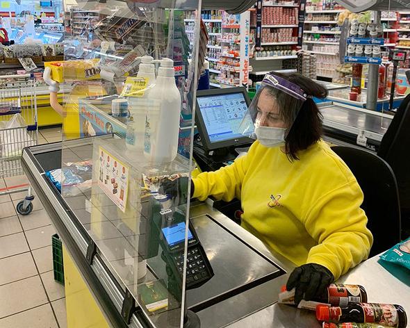 קניות בסופרמרקט בעת הקורונה, יש לתקצב גם את קניות המזון לעת המשבר, צילום: גדי קבלו