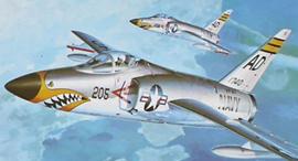 הקברניט טייגר מטוס קרב שנות ה חמישים, צילום: hasegawa