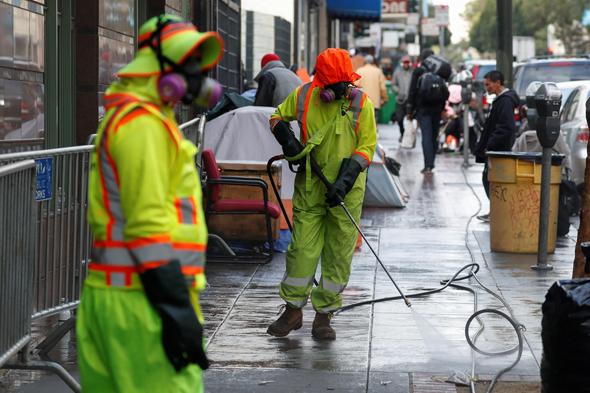 חיטוי רחובות בסן פרנסיסקו