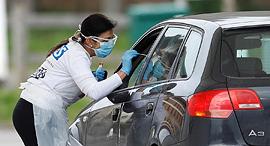 קורונה בריטניה מתחם בדיקה בדיקות, צילום: רויטרס
