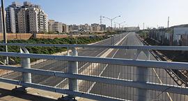כבישים ריקים, צילום: דוד הכהן