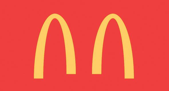 הלוגו הזמני של מקדונל