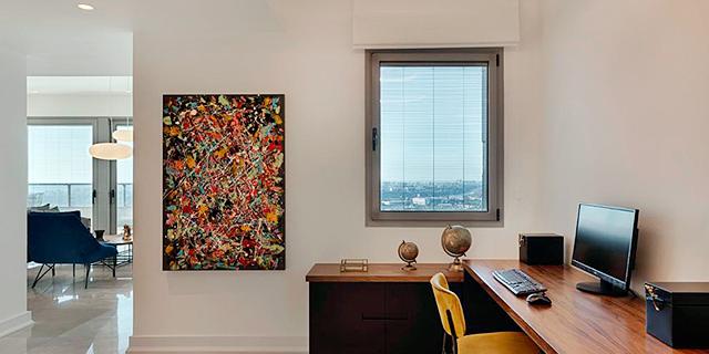 דירה חדשה עם חלל עבודה זירת הנדלן, צילום: אסף פינצ'וק