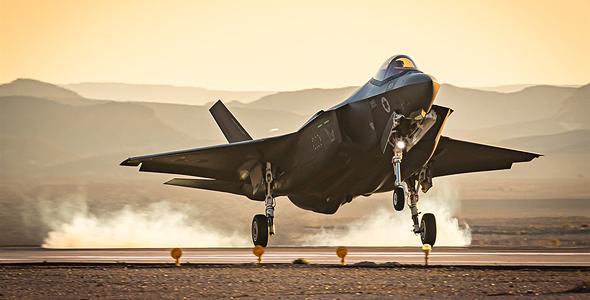 F35 בגישה לנחיתה