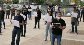 """מחאת עובדי חדשות 13, צילום: יח""""צ"""