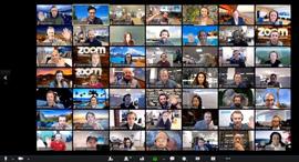 זום Zoom שירות שיחות הוידאו, עבודה מרחוק, עבודה מהבית, קורונ,  קרדיט: Zoom