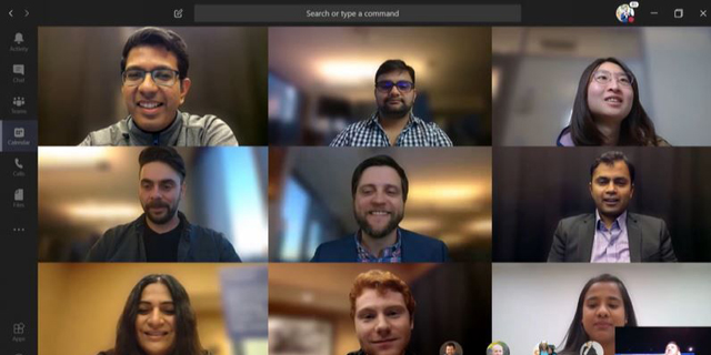 Microsoft Teams operated remote video call. Photo: Microsoft