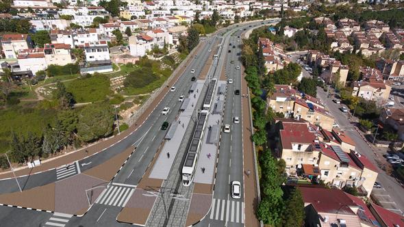 הדמייתהרכבת הקלה חיפה-נצרת