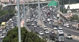 שיירות בכבישים, צילום: נתיבי ישראל