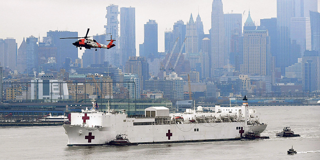 Boat hospital for corona patients. Photo: AFP