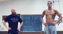 Sports psychologist Graham Betchart (left) stands beside NBA player and client Aaron Gordon. Photo: Universal Pictures International Switzerland