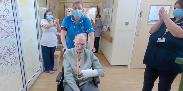 בריטי בן 99 שהיה במחנה שבויים במלחמת העולם השנייה החלים מקורונה