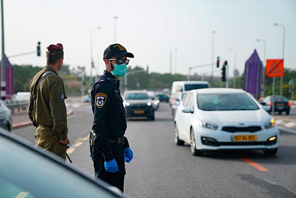 חיילים ושוטרים במשימת אכיפה
