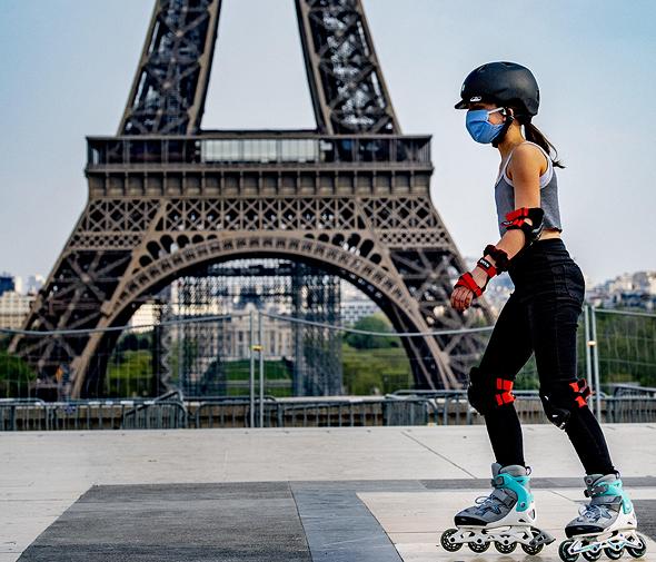 מגדל אייפל סגר פריז צרפת קורונה וירוס, צילום: אם סי טי