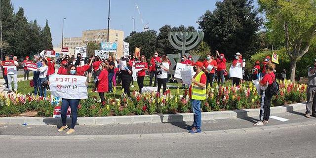 הפגנת עצמאים בירושלים שלשום, צילום: אלי מנדבלאום