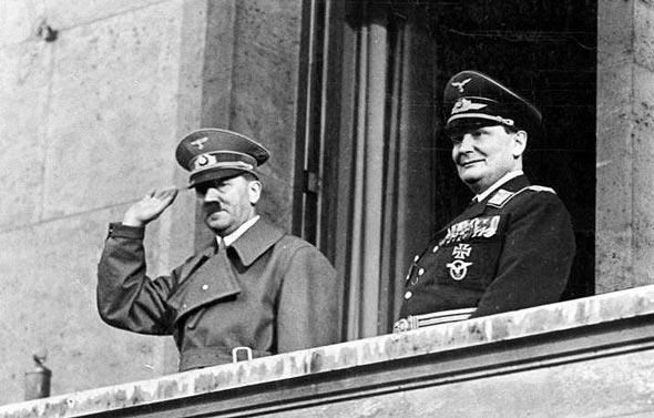 גרינג והיטלר, צילום: Bundesarchiv
