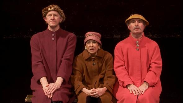 """""""פרגמנטים"""" של בקט. בימוי נפלא, צילום: צילום מסך מתוך המחזה"""