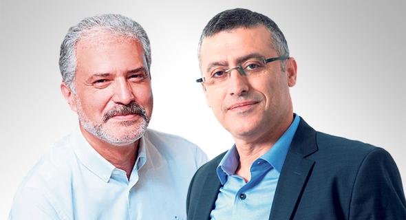 """מנכ""""ל אסם אבי בן אסאייג ומנכ""""ל יוניליוור ישראל ג'ם טריק יוקסל"""