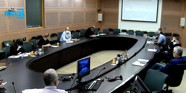 ועדת חוץ וביטחון היום. דיון סוער, צילום: מסך מהסרטון