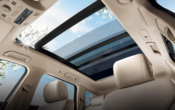 A sunroof that uses Gauzi's technology. Photo: Courtesy